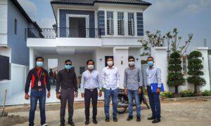 ក្រុមការងារ Area Cambodia Property (ACP) នៅក្នុងគម្រោង បុរីសួស្តី ៣៣៣ ក្រុង សៀមរាប